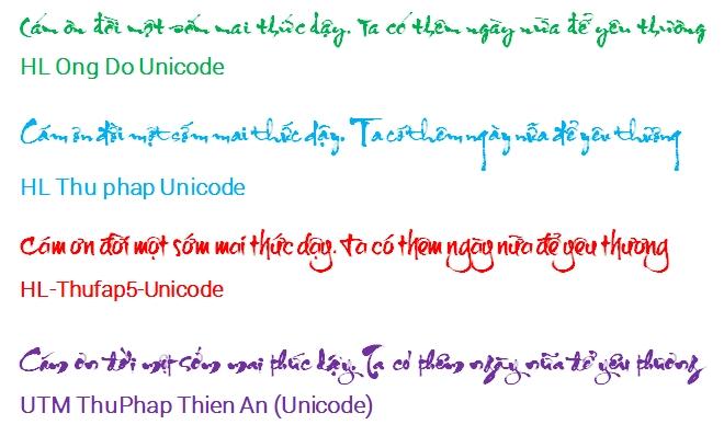 Chia sẻ bộ font thư pháp tuyệt đẹp