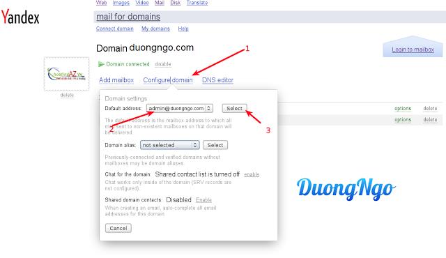 Hướng dẫn tạo email domain miễn phí với Yandex – Cài đặt và sử dụng