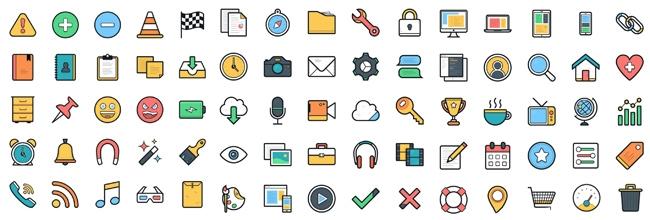 100 vector icon miễn phí