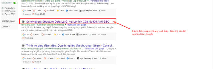 ví dụ thẻ title trong on page seo
