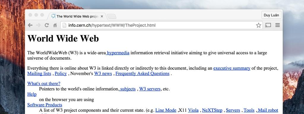 Website đầu tiên ra đời cách đây đúng 25 năm vào ngày 20/12/1990