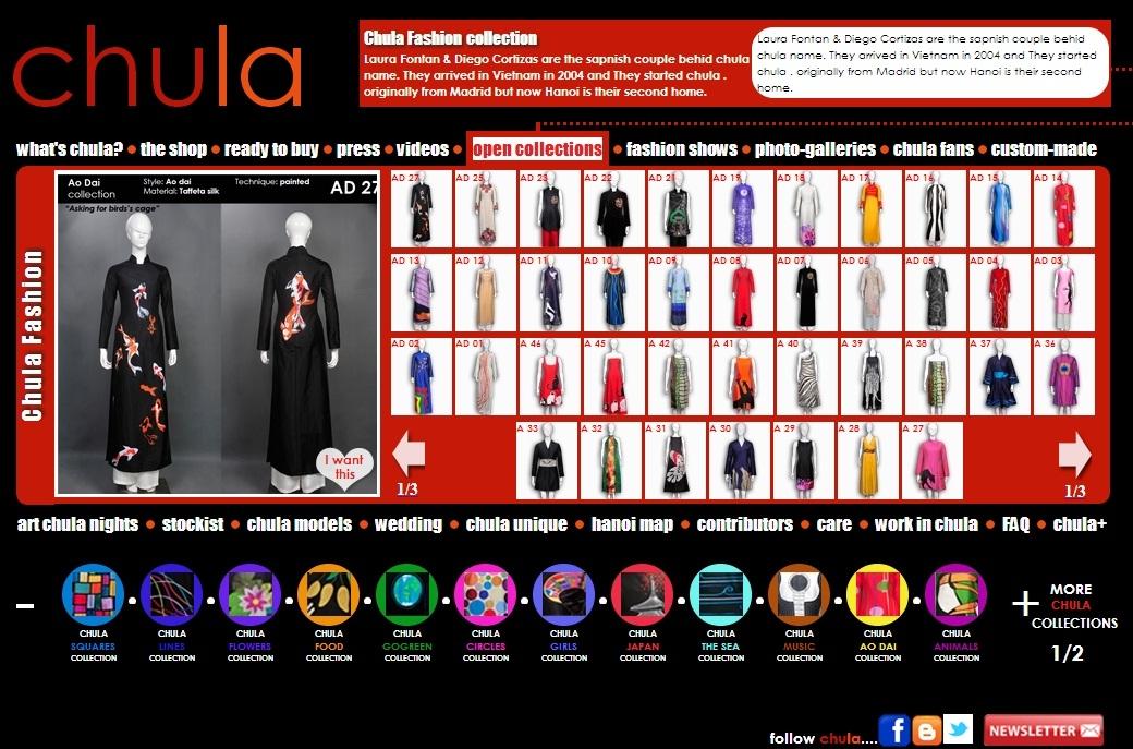 Thiết kế web thời trang cho công ty Chula