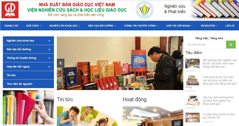 Thiết kế web cho viện nghiên cứu sách và học liệu giáo dục - NXBGD