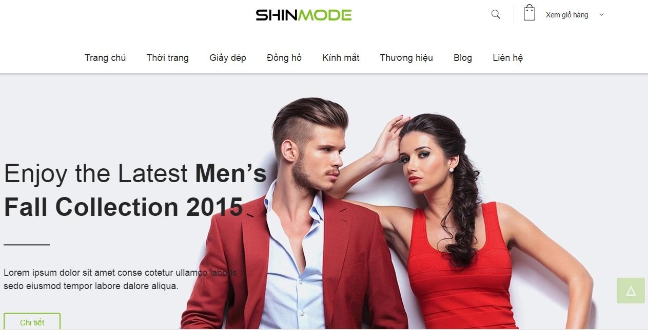 Web bán hàng thời trang