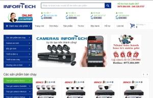 Thiết kế web bán camera cho công ty TNHH Infortech Việt Nam