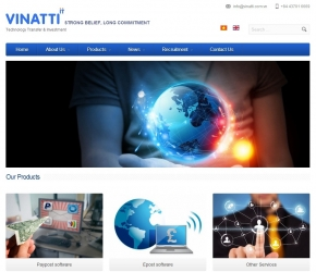 Thiết kế web responsive song ngữ giới thiệu dịch vụ sản phẩm cho công ty Vinatti