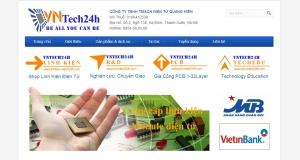 Thiết kế web giới thiệu công ty cho công ty TNHH TM&CN Điện tử Quang Hiền