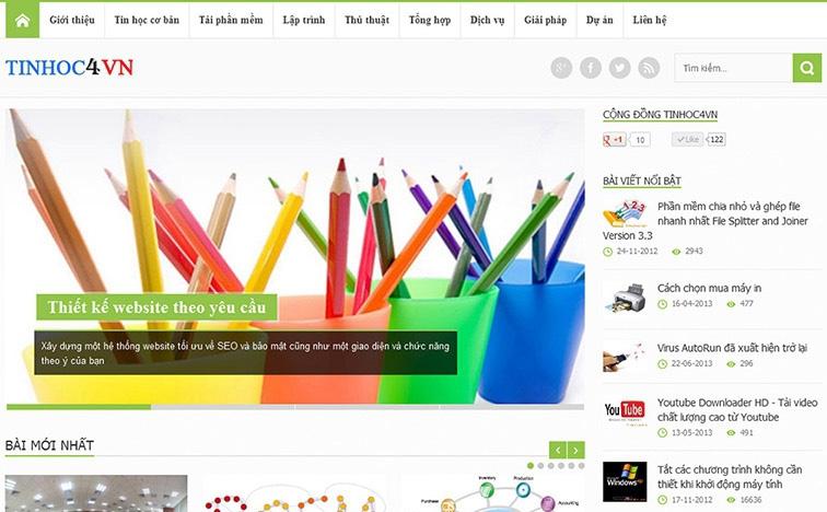 Thiết kế web responsive cho công ty Tinhoc4vn