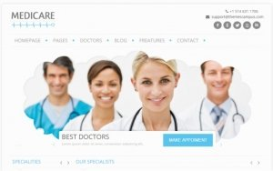 Mẫu website Y khoa - Y tế